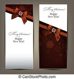 Greeting cards with brown bows.