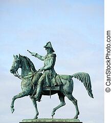 Statue of Charles XIV John former king of Sweden Stockholm