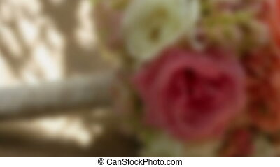 Wedding bouquet rack focus two - Wedding bouquet rack focus...