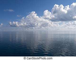 Calm Waters - Extremely Calm Ocean Showing Partially Cloudy...