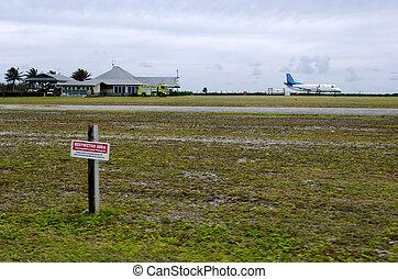 Aitutaki Airport in Aitutaki Lagoon Cook Islands - AITUTAKI...