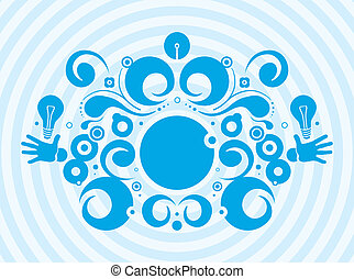 Abstract creative design - Illustration of abstract blue...
