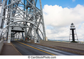 Aerial Lift Bridge - Duluth Minnesota Aerial Lift Bridge on...