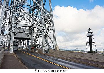 Aerial Lift Bridge - Duluth Minnesota Aerial Lift Bridge on...