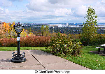 Duluth Minnesota - Scenic Overlook of Duluth Minnesota on...