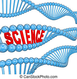 DNA Science Word Biology Learning Education - The word...