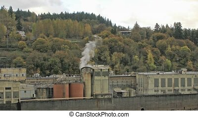 Historic Paper Mill Plant in Oregon City along Willamette...