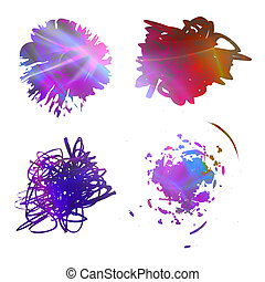 Rainbow Scribbles - Rainbow colored abstract scribbles...