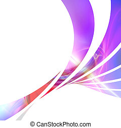 Colorful Swoosh Layout - An abstract design template or...