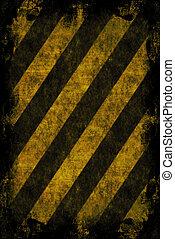 Grunge Hazard Stripes - A hazard stripes texture with...