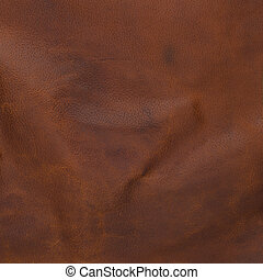Brown leather texture closeup - Closeup detail of brown...