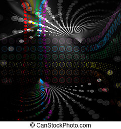 Rainbow Circles Layout - A rainbow colored abstract design...