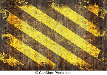 Grunge Hazard Stripes - A hazard stripes texture with...