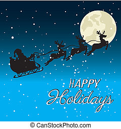 holidays design over sky night background vector...