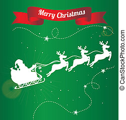 christmas design over green background vector illustration