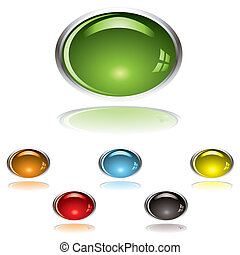 lozenge gel button - Lozenge shape gel icon with shadow and...