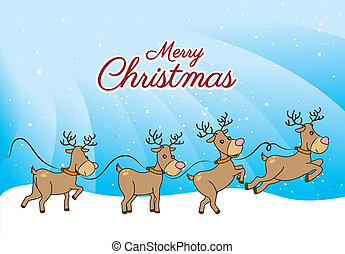 christmas design over snowscape background vector...