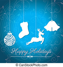 holidays design over blue  background vector illustration