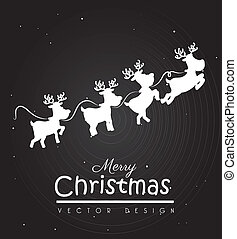 christmas design over black background vector illustration