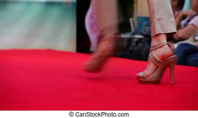 Model walking on runway - Can Stock Photo | My Portfolio >...