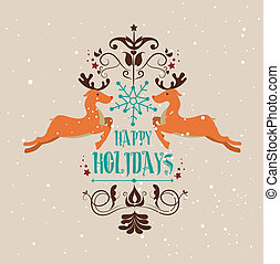 christmas design over beige background vector illustration