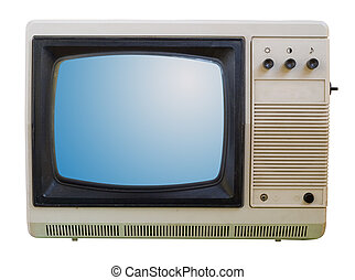 Old TV isolated - The old TV isolated on a white background...
