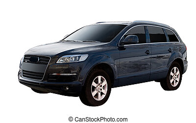 Audi Q7 isolated - Large comfortable german luxury car class...