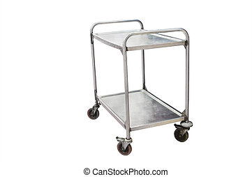 two-level cart under the white background