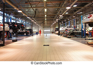 repair garage - Image of a repair garage