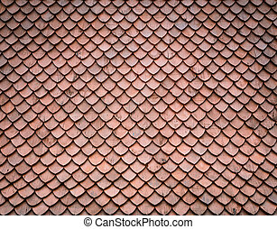 Asian wooden roof  - Wooden roof pattern background