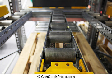 roller conveyor - the image of a roller conveyor