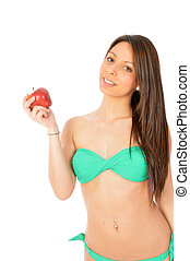 An apple a day keeps the doctor round about (old Italian...