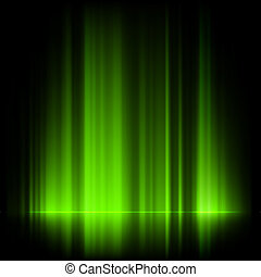 Green northern lights, aurora borealis. EPS 10 vector file...