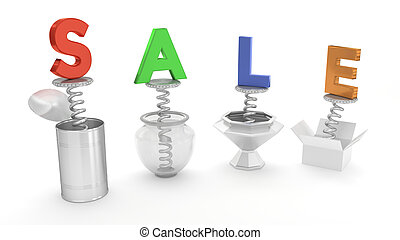 SALE Colorful Wording Pop Up Out of Containers