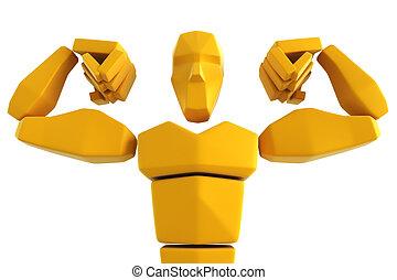 3d symbolic athlete isolated