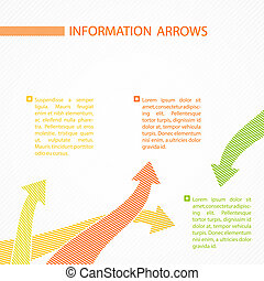 Dots arrows for infographics. Vector ilustration.