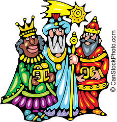 three kings - nice three kings isolated on white background