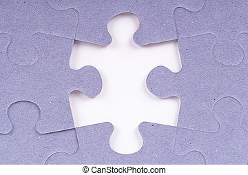 Missing Puzzle Piece - Puzzle pieces with missing piece.