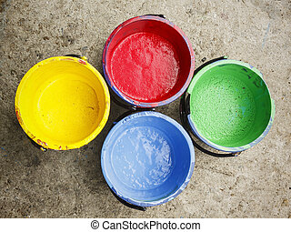 Old containing color silkscreen. - Old containing colorful...