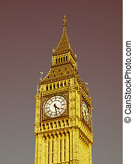 Retro looking Big Ben - Vintage look Big Ben Houses of...