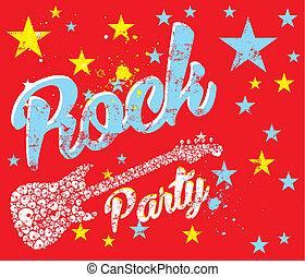 rock party skull guitar vector art
