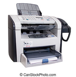 Fax isolated - The modern multipurpose device: a fax, copier...