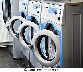 Room with washing machines
