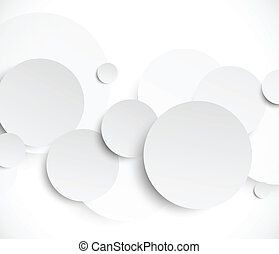 Abstract background with paper circles