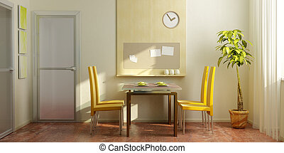 modern dining-room interior