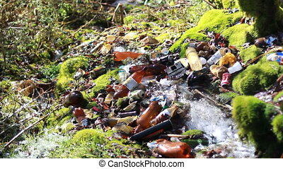 conceptual unhygienic polluted river