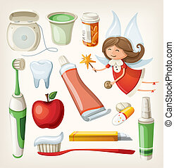 Set of items for teeth health - Set of items for keeping...