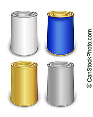 Template tin colored cans - Colored tin can templates...