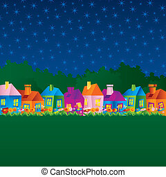 background with cartoon houses - background with cartoon...