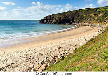 Cornish beach Praa Sands Cornwall - Praa Sands beach...